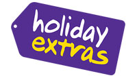 Holiday Extras logo, links to all discounts for Holiday Extras