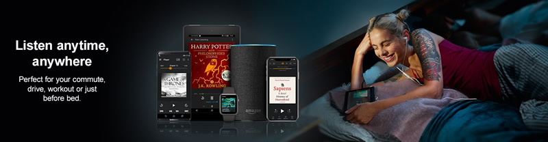 Banner image from Audible